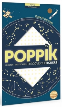 Poppik Stickerposter - Discovery (1 Poster + 640 Sticker) / Sternenhimmel